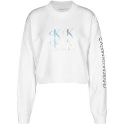 vaatteet Naiset Svetari Calvin Klein Jeans J20J215575 Valkoinen