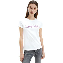 vaatteet Naiset Lyhythihainen t-paita Calvin Klein Jeans K20K201852 Valkoinen