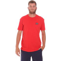vaatteet Miehet Lyhythihainen t-paita Ea7 Emporio Armani 3KPT63 PJ6EZ Punainen
