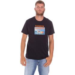 vaatteet Miehet Lyhythihainen t-paita Sundek M047TEJ7800 Musta