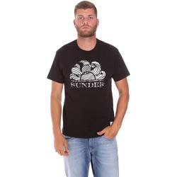vaatteet Miehet Lyhythihainen t-paita Sundek M027TEJ78ZT Musta