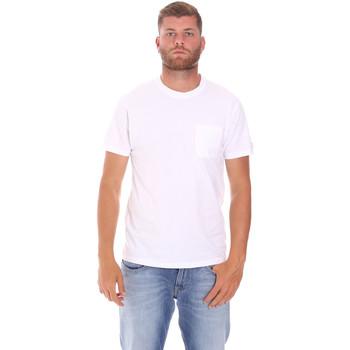 vaatteet Miehet Lyhythihainen t-paita Sundek M050TEJ9300 Valkoinen
