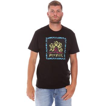 vaatteet Miehet Lyhythihainen t-paita Sundek M021TEJ78FL Musta