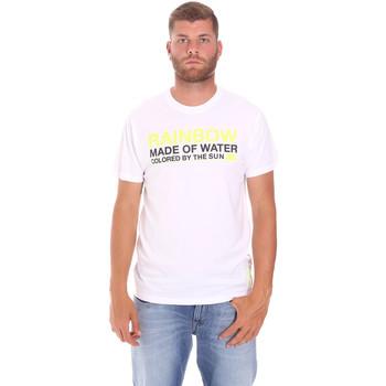 vaatteet Miehet Lyhythihainen t-paita Sundek M058TEJ7800 Valkoinen