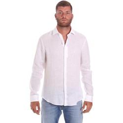 vaatteet Miehet Pitkähihainen paitapusero Calvin Klein Jeans K10K107232 Valkoinen