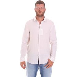 vaatteet Miehet Pitkähihainen paitapusero Calvin Klein Jeans K10K107236 Valkoinen