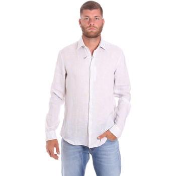 vaatteet Miehet Pitkähihainen paitapusero Calvin Klein Jeans K10K107239 Valkoinen
