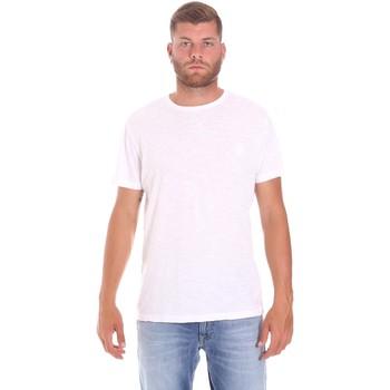 vaatteet Miehet Lyhythihainen t-paita Lumberjack CM60343 021EU Valkoinen