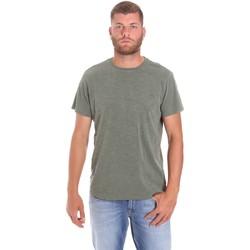vaatteet Miehet Lyhythihainen t-paita Lumberjack CM60343 021EU Vihreä
