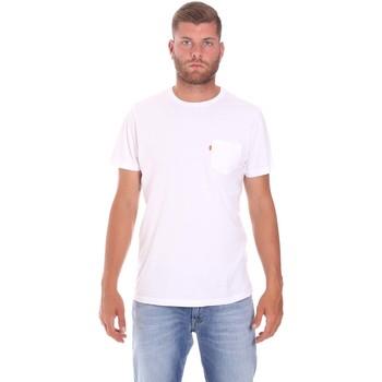 vaatteet Miehet Lyhythihainen t-paita Lumberjack CM60343 022EU Valkoinen