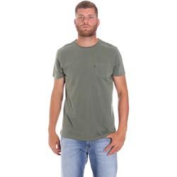 vaatteet Miehet Lyhythihainen t-paita Lumberjack CM60343 022EU Vihreä