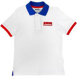 vaatteet Lapset Lyhythihainen poolopaita Diadora 102175907 Valkoinen