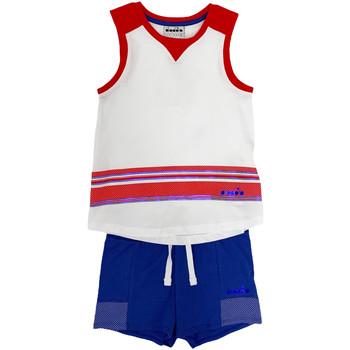 vaatteet Lapset Kokonaisuus Diadora 102175915 Valkoinen
