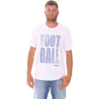 vaatteet Miehet Lyhythihainen t-paita Diadora 102175854 Valkoinen