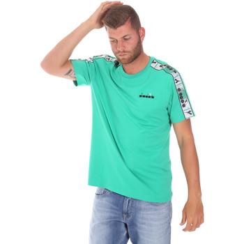 vaatteet Miehet Lyhythihainen t-paita Diadora 502176085 Vihreä