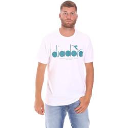 vaatteet Miehet Lyhythihainen t-paita Diadora 502176633 Valkoinen