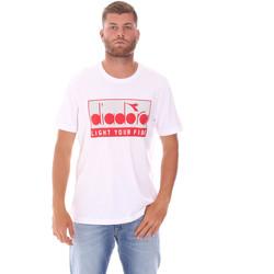 vaatteet Miehet Lyhythihainen t-paita Diadora 502175835 Valkoinen