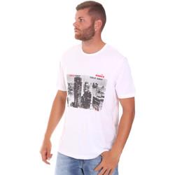 vaatteet Miehet Lyhythihainen t-paita Diadora 102175861 Valkoinen