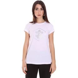 vaatteet Naiset Lyhythihainen t-paita Lumberjack CW60343 015EU Valkoinen