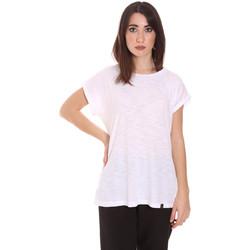 vaatteet Naiset Lyhythihainen t-paita Lumberjack CW60343 011EU Valkoinen