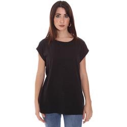 vaatteet Naiset Lyhythihainen t-paita Lumberjack CW60343 011EU Musta