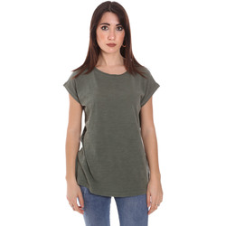 vaatteet Miehet Lyhythihainen t-paita Lumberjack CW60343 011EU Vihreä