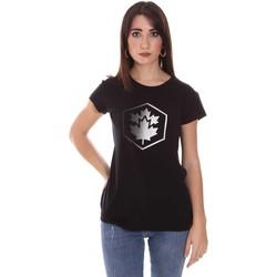 vaatteet Naiset Lyhythihainen t-paita Lumberjack CW60343 015EU Musta