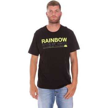 vaatteet Miehet Lyhythihainen t-paita Sundek M058TEJ7800 Musta