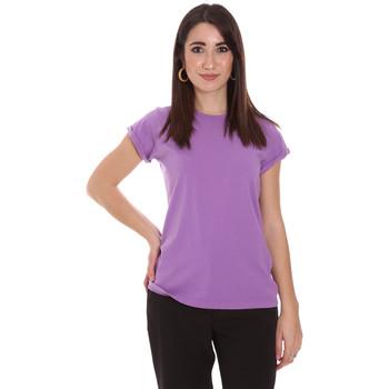 vaatteet Naiset Lyhythihainen t-paita Dixie T924P092 Violetti