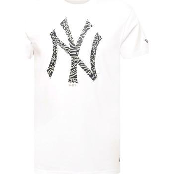 vaatteet Miehet Lyhythihainen t-paita New-Era 12369838 Valkoinen