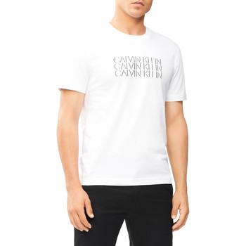 vaatteet Miehet Lyhythihainen t-paita Calvin Klein Jeans K10K107158 Valkoinen