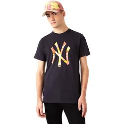 vaatteet Miehet Lyhythihainen t-paita New-Era 12720165 Musta