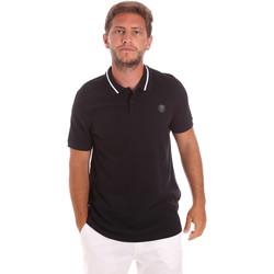 vaatteet Miehet Lyhythihainen poolopaita Roberto Cavalli FST693 Musta