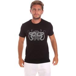 vaatteet Miehet Lyhythihainen t-paita Roberto Cavalli HST66B Musta