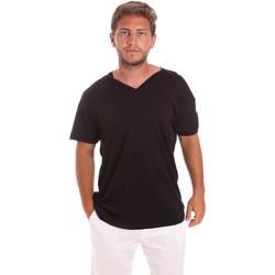 vaatteet Miehet Lyhythihainen t-paita Colmar 7521 6SS Musta