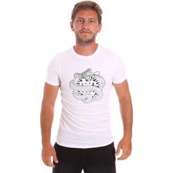 vaatteet Miehet Lyhythihainen t-paita Roberto Cavalli HST64B Valkoinen