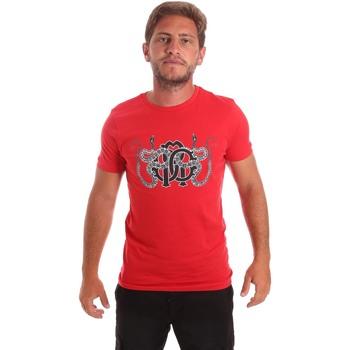 vaatteet Miehet Lyhythihainen t-paita Roberto Cavalli HST66B Punainen