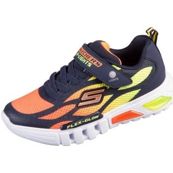 kengät Lapset Matalavartiset tennarit Skechers Flex Glow Oranssin väriset, Keltaiset, Grafiitin väriset