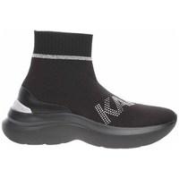 kengät Naiset Korkeavartiset tennarit Karl Lagerfeld KL61855 Mustat