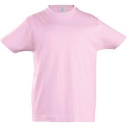 vaatteet Lapset Lyhythihainen t-paita Sols 11770 Medium Pink