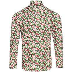 vaatteet Miehet Pitkähihainen paitapusero Christmas Shop CS001 Holly White