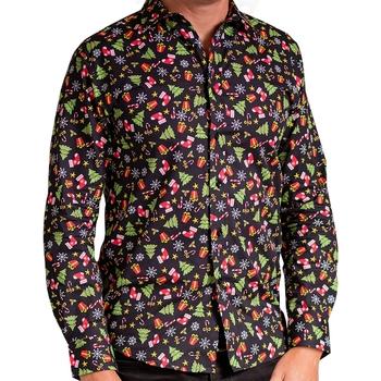 vaatteet Miehet Pitkähihainen paitapusero Christmas Shop CS001 Black Assorted