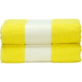 Koti Pyyhkeet ja pesukintaat A&r Towels Taille unique Bright Yellow
