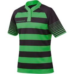 vaatteet Pojat Lyhythihainen t-paita Kooga K106B Black / Emerald Green