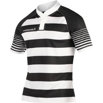 vaatteet Pojat Lyhythihainen t-paita Kooga K106B Black/White