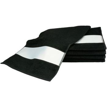 Koti Pyyhkeet ja pesukintaat A&r Towels 30 cm x 140 cm Black