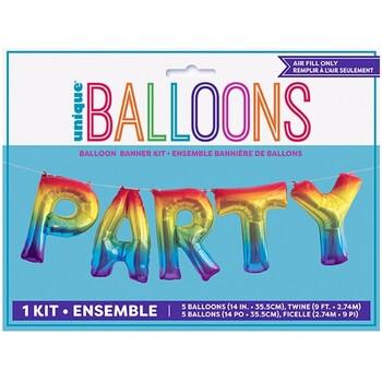 Koti Tarrat Unique Party Taille unique Rainbow
