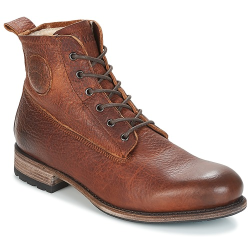 kengät Miehet Bootsit Blackstone MID LACE UP BOOT FUR Brown
