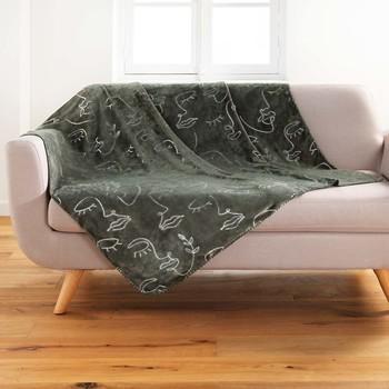 Koti Päälliset, suojapeitteet Douceur d intérieur ARTY LINE Khaki / Harmaa / Hopea