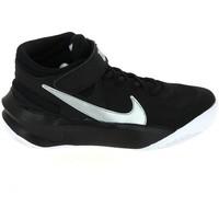 kengät Lapset Koripallokengät Nike Team Hustle D 10 Flyease Jr Noir Blanc DD7303-004 Musta